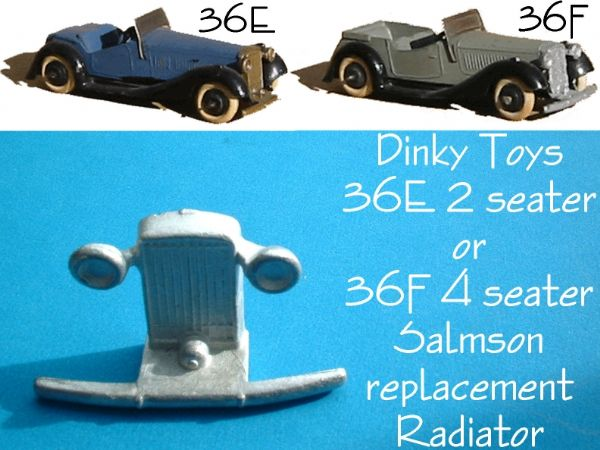 Dinky Toys 36F 4 Seater Salmson Grille Radiator [ Each ]